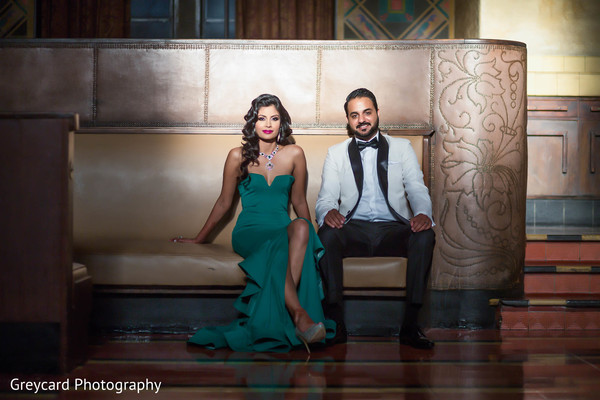 Reception Portrait in Los Angeles, CA Sikh Wedding by Greycard Photography