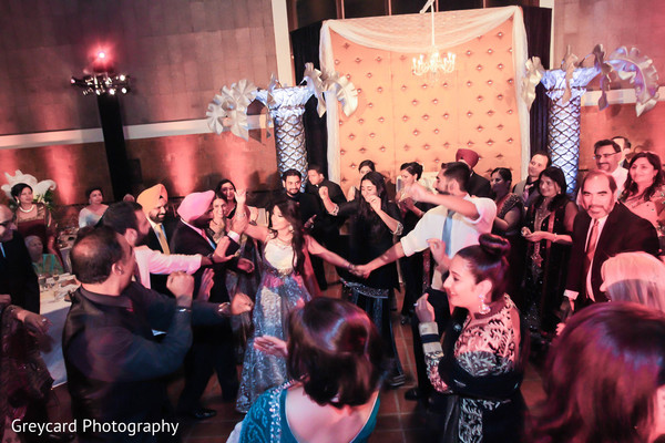 Reception in Los Angeles, CA Sikh Wedding by Greycard Photography