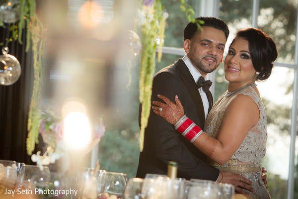 Reception in Woodland Park, NJ Indian Wedding by Jay Seth Photography