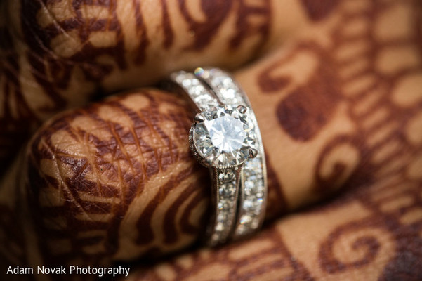 Ring in Rosemont, IL Indian Wedding by Adam Novak Photography