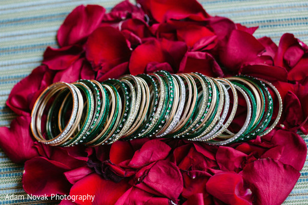 Bangles in Rosemont, IL Indian Wedding by Adam Novak Photography