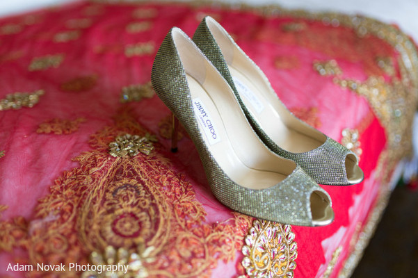 Shoes in Rosemont, IL Indian Wedding by Adam Novak Photography