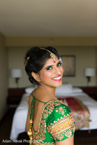 Getting Ready in Rosemont, IL Indian Wedding by Adam Novak Photography