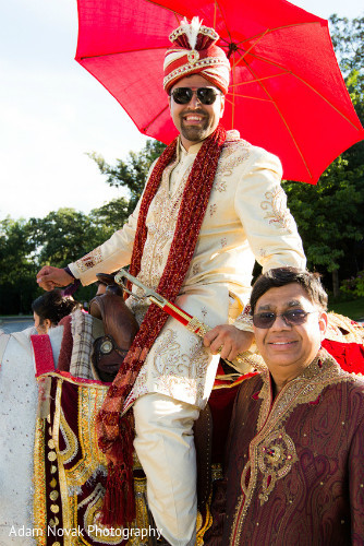 Baraat in Rosemont, IL Indian Wedding by Adam Novak Photography