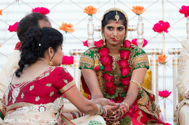 Ceremony in Rosemont, IL Indian Wedding by Adam Novak Photography