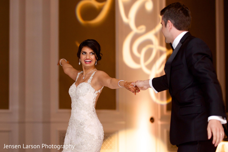 reception in orlando fl indian fusion wedding by jensen larson