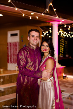The Indian sangeet celebration takes place!