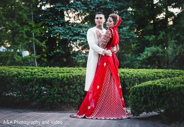 First Look in Mahwah, NJ Pakistani Wedding by A&A Photography and Video