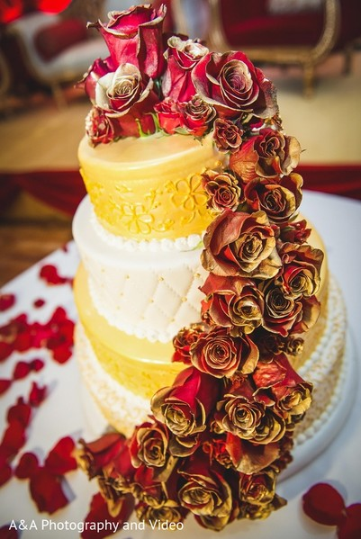 Wedding Cake in Mahwah, NJ Pakistani Wedding by A&A Photography and Video
