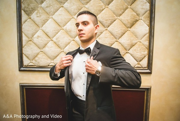 Groom Getting Ready in Mahwah, NJ Pakistani Wedding by A&A Photography and Video