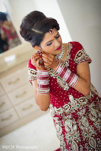 getting ready,hair and makeup,bangles,lengha