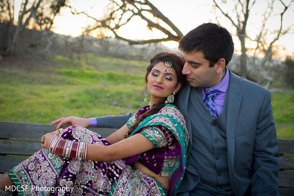 Reception Portraits in Livermore, CA Indian Wedding by MDCSF Photography