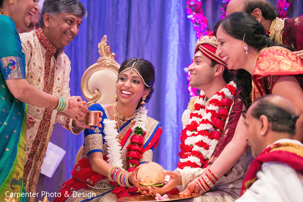 Ceremony in Indianapolis, IN Indian Wedding by Carpenter Photo & Design