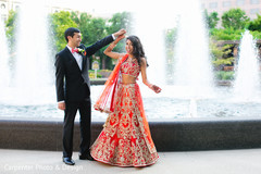 The couple showcases their reception fashion!