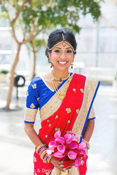 bridal fashion,bridal sari,sari,bridal bouquet,hair and makeup,first look,first look portraits,gold bridal set,tikka,godl necklace