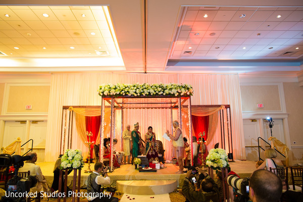 Ceremony in Philadelphia, PA Indian Wedding by Uncorked Studios Photography