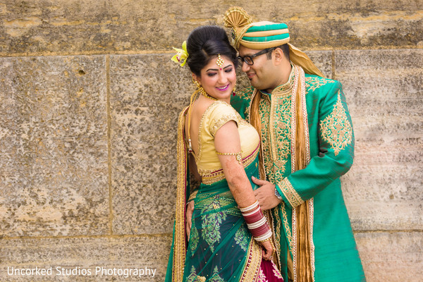 First Look in Philadelphia, PA Indian Wedding by Uncorked Studios Photography
