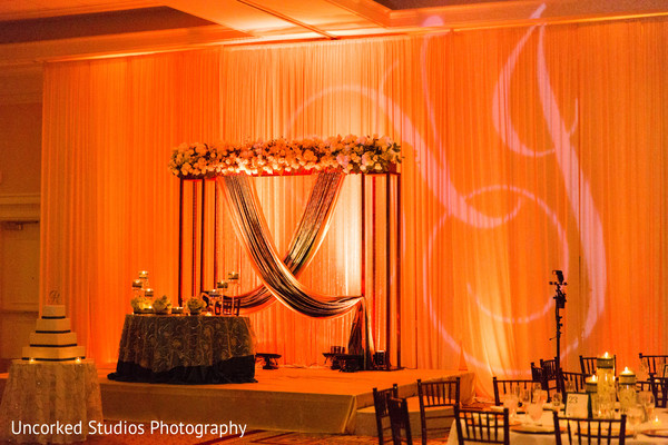 indian wedding reception,reception decor,floral and decor,sweetheart stage