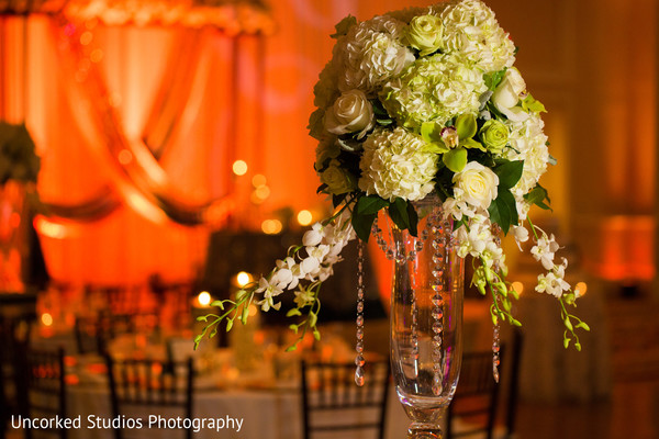 indian wedding reception,reception decor,floral centerpiece,floral and decor,table settings
