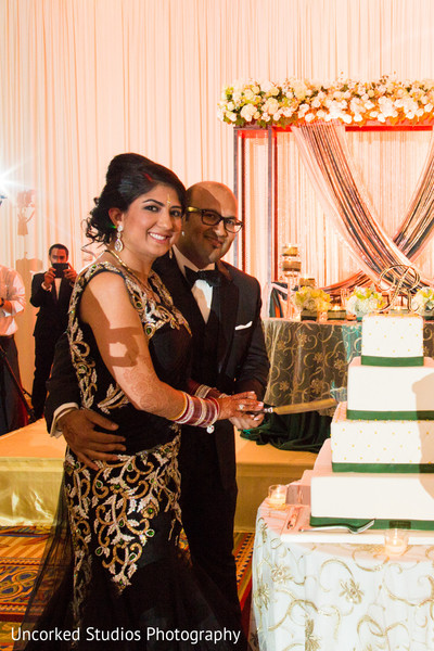 indian wedding reception,cake cutting,reception lengha,suit,reception hair and makeup,reception fashion