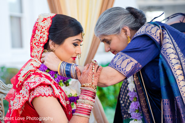 Outdoor Ceremony in San Jose, CA Indian Wedding by Janet Love Photography