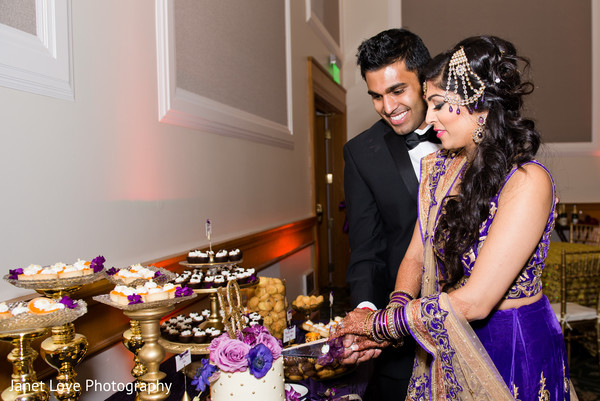 indian wedding reception,reception,jhoomar,reception lengha,cake cutting