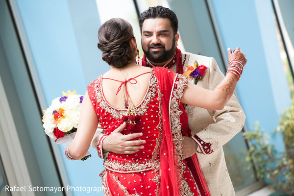 First Look in San Juan, PR Indian Destination Wedding by Rafael Sotomayor Photography
