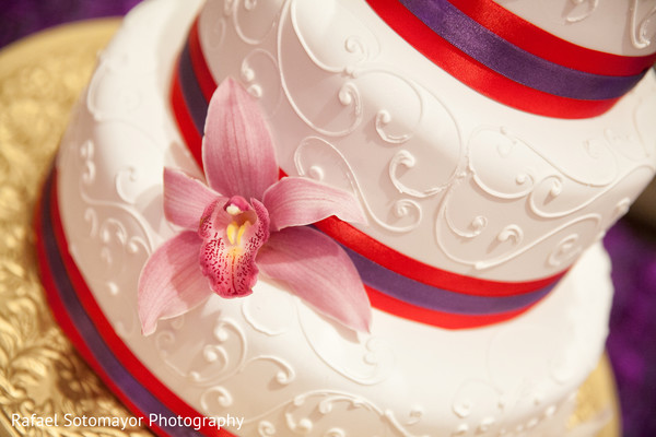 Wedding Cake in San Juan, PR Indian Destination Wedding by Rafael Sotomayor Photography