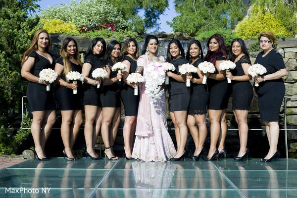 portraits,bridal party,bridesmaids,bridesmaids dresses,reception lengha,bridal bouquet,bouquets