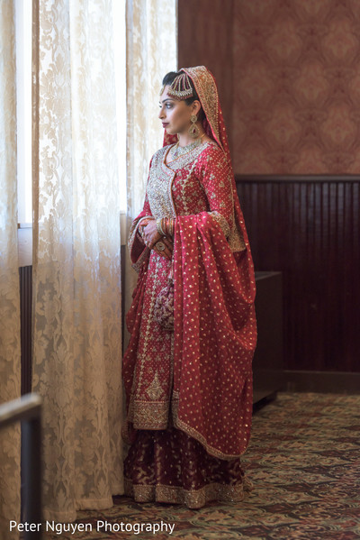 Bridal Portrait in Birmingham, AL South Asian Wedding by Peter Nguyen Photography
