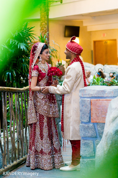 First Look in Anaheim, CA Indian Wedding by RANDERYimagery