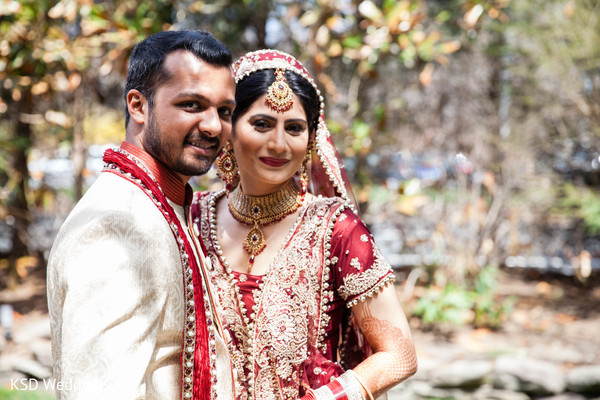 First Look in Mountain Lakes, NJ Indian Wedding by KSD Weddings