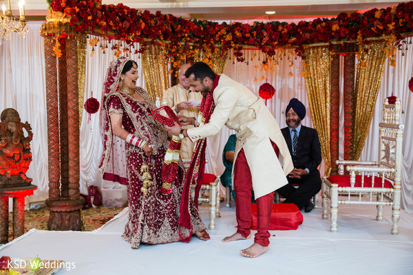 indian wedding ceremony,indian ceremony,mandap,floral and decor,ceremony decor,bridal fashion,bridal lengha,sherwani,groom fashion