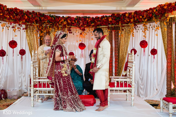 Ceremony in Mountain Lakes, NJ Indian Wedding by KSD Weddings