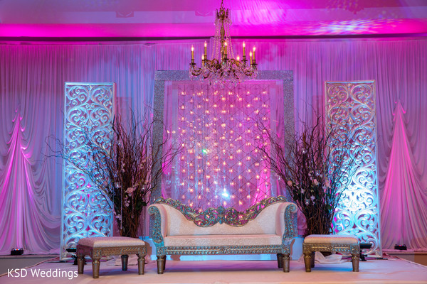 Reception in Mountain Lakes, NJ Indian Wedding by KSD Weddings