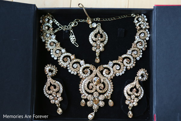 Jewelry Set in St. Louis, MO Indian Wedding by Memories Are Forever