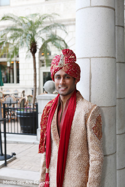 Groom Portrait in St. Louis, MO Indian Wedding by Memories Are Forever