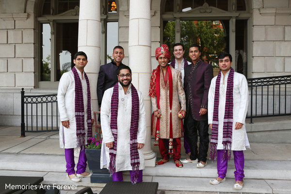 Groomsmen in St. Louis, MO Indian Wedding by Memories Are Forever