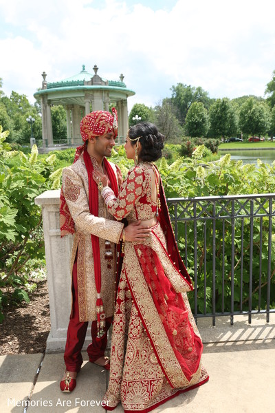 Wedding Portrait in St. Louis, MO Indian Wedding by Memories Are Forever