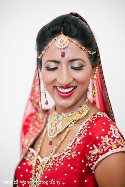 Hair & Makeup in Malibu, CA Indian Fusion Wedding by Monica Wang Photography