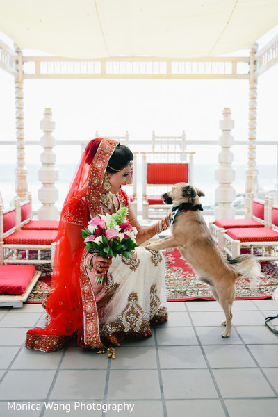 Bridal Portrait in Malibu, CA Indian Fusion Wedding by Monica Wang Photography