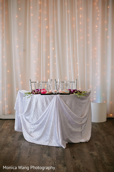 Sweetheart Table in Malibu, CA Indian Fusion Wedding by Monica Wang Photography