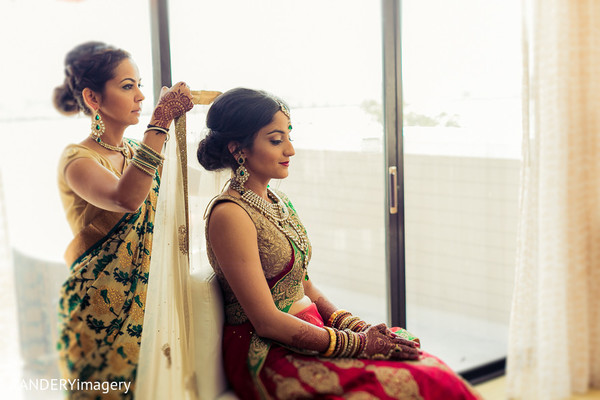 Getting Ready in San Diego, CA Indian Wedding by RANDERYimagery