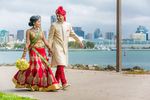 indian wedding first look,indian wedding first look portraits,indian wedding portraits,outdoor indian wedding,outdoor indian wedding portraits,indian bridal fashions,indian bridal lengha,indian groom sherwani,indian groom fashion,indian bridal bouquet