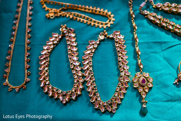 Bridal Jewelry in New Vrindaban, WV Indian Wedding by Lotus Eyes Photography