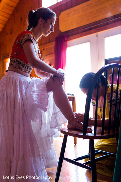 Getting Ready in New Vrindaban, WV Indian Wedding by Lotus Eyes Photography