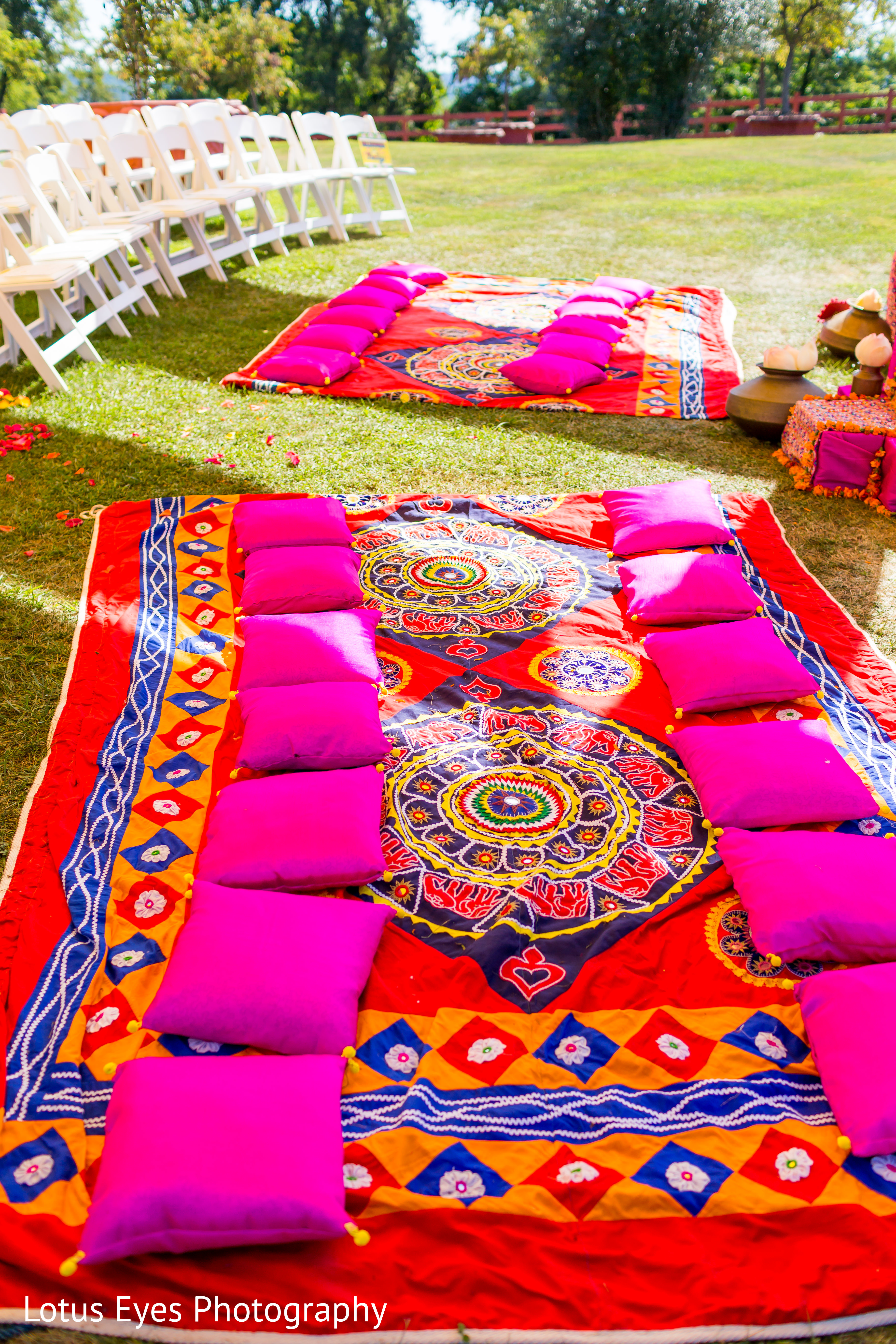 Ceremony decor in new vrindaban wv indian wedding by for Indian engagement decorations at home