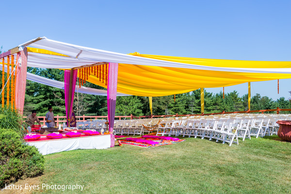 Ceremony Decor in New Vrindaban, WV Indian Wedding by Lotus Eyes Photography