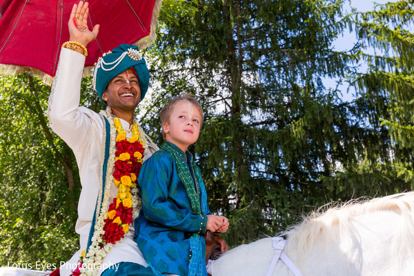 Baraat in New Vrindaban, WV Indian Wedding by Lotus Eyes Photography