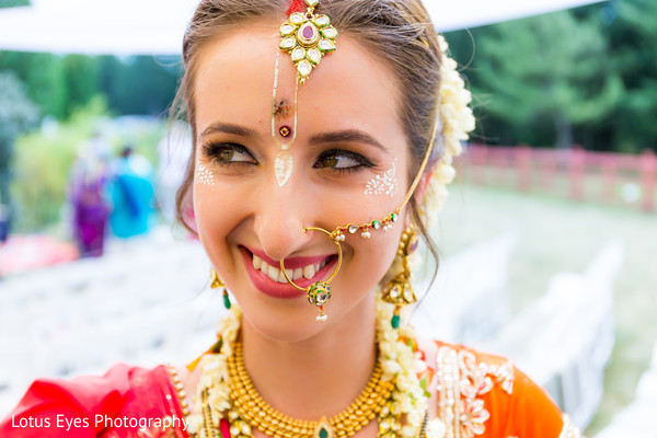 Bridal Portrait in New Vrindaban, WV Indian Wedding by Lotus Eyes Photography
